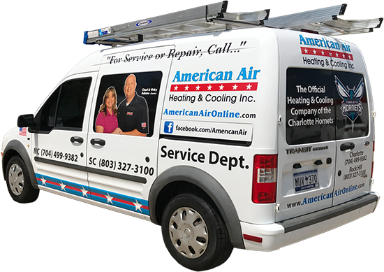 Rock Hill, SC heating and air repair van